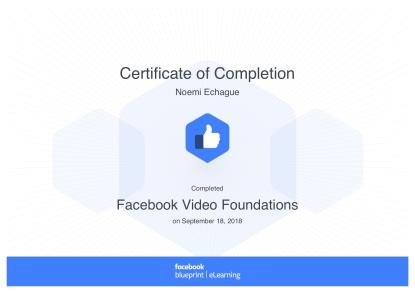 Facebook Video Foundations_ Blueprint Certificate